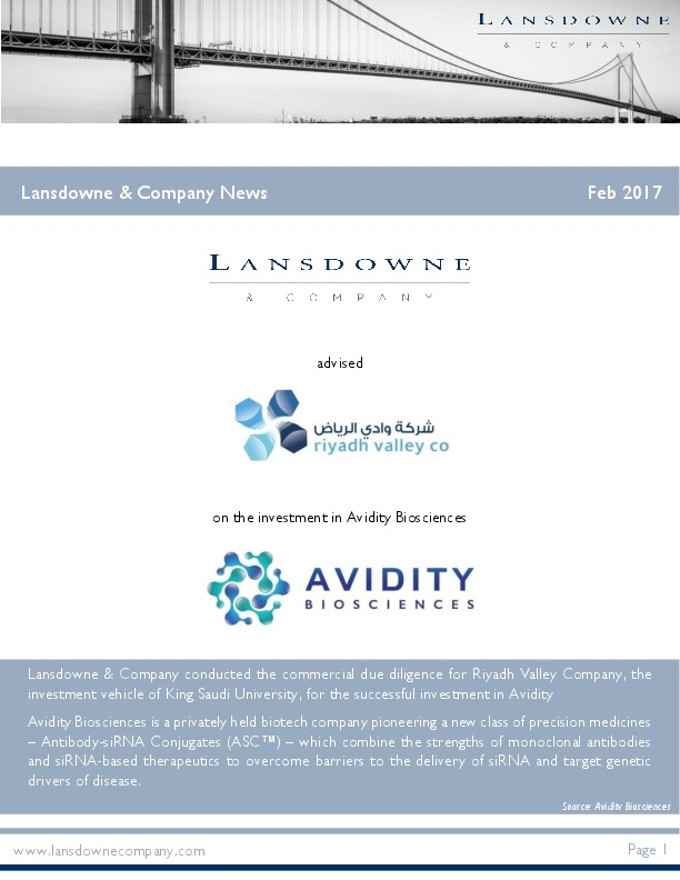 Lansdowne & Company News February 2017