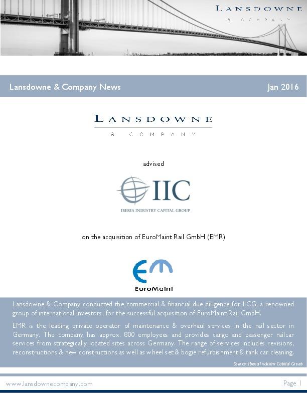 Lansdowne & Company News January 2016