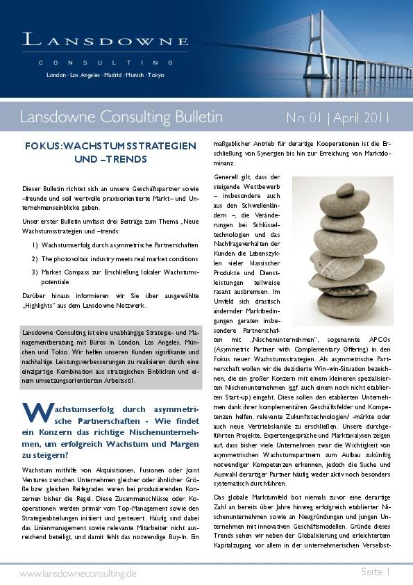 Lansdowne Consulting Bulletin 201101 Thumbnail