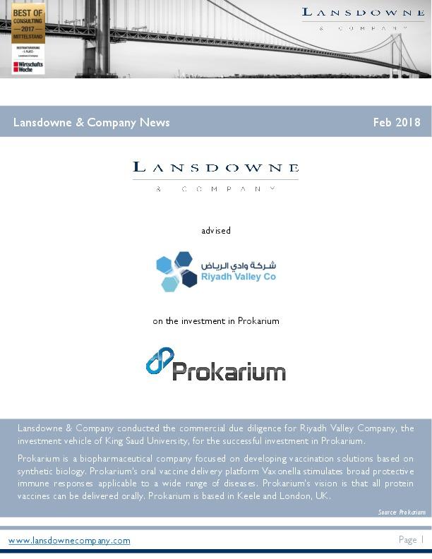 Lansdowne and Company News Februar 2018